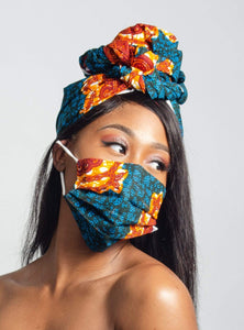 Bessem African Print Head wrap - Arrey Of