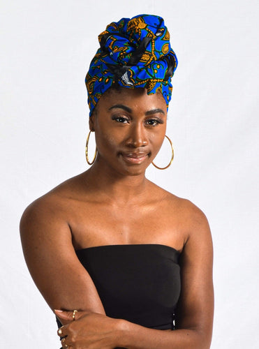 Keno African Print Head wrap - Arrey Of
