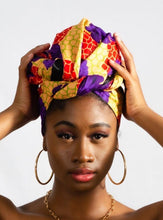 Load image into Gallery viewer, Ngemé African Print Head wrap - Arrey Of