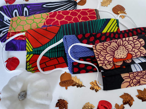Arrey Of Masks Fall Collection African Print Fabric Masks