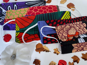 Fall Collection African Print Fabric Masks - Arrey Of