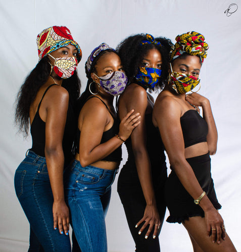 Arrey Of Masks Summer Collection African Print Fabric Masks