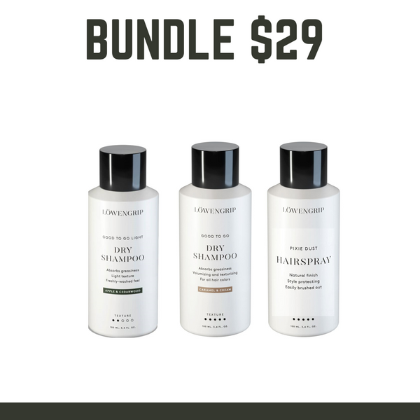 BUNDLE SALE $29 - LOWENGRIP Dry Shampoo Kit  - Valued at  $60