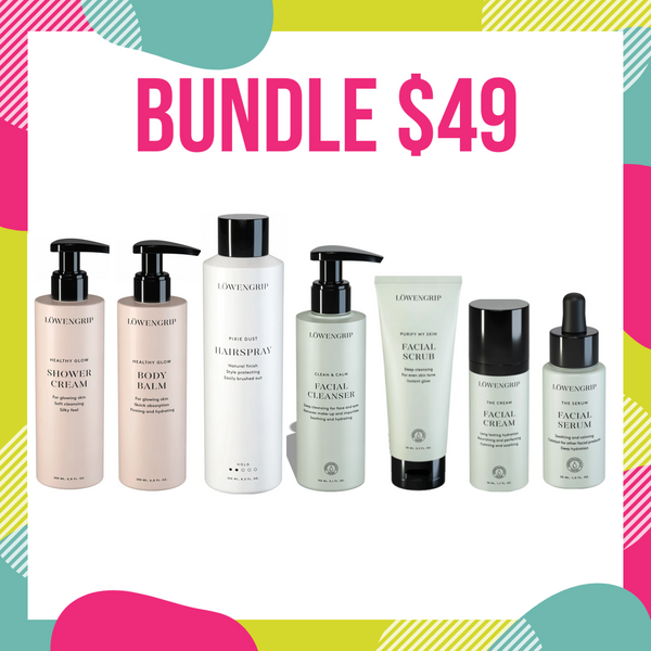 BUNDLE SALE $49 - LOWENGRIP Daily Care Skin/Hair Kit Valued at Over $180