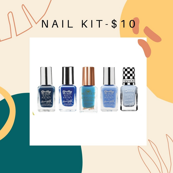 BUNDLE SALE - BARRY M NAIL KIT -  BLUE GRAPE   $10