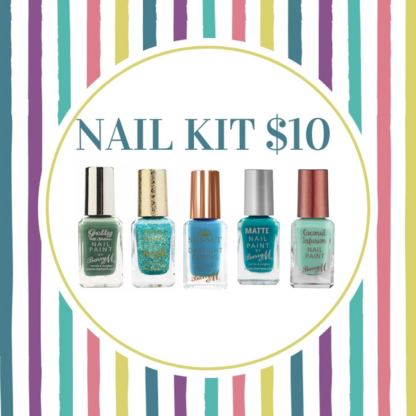 BUNDLE SALE - BARRY M NAIL KIT - GREEN BIKINI