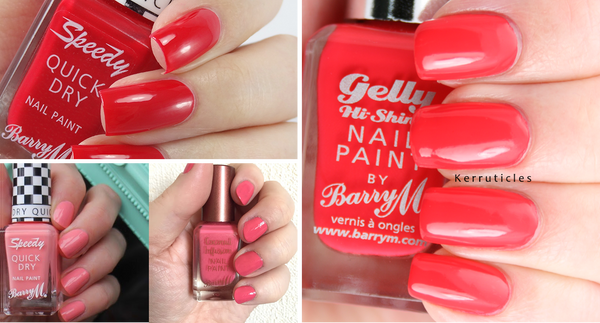 BUNDLE SALE - BARRY M NAIL KIT -  CORAL REEF $10