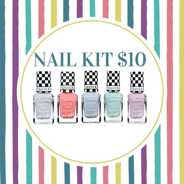 BUNDLE SALE - BARRY M NAIL KIT -Pastels
