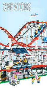 Buidling Blocks With Motor Creator Expert Roller Coaster Technic Set