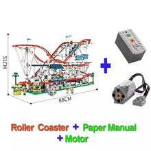 Load image into Gallery viewer, Buidling Blocks With Motor Creator Expert Roller Coaster Technic Set