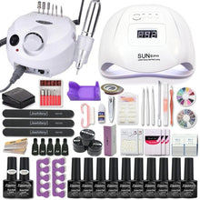 Load image into Gallery viewer, Acrylic Nail kit Set Fall nail with Led Nail Lamp 120W