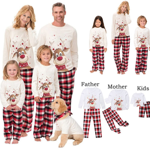 Christmas Pajamas Set Deer Family Matching Clothes