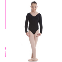 Elizabeth Long Sleeve Gathered Leotard CL05