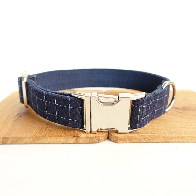 Personalized Bleu Suit Collar and Leash