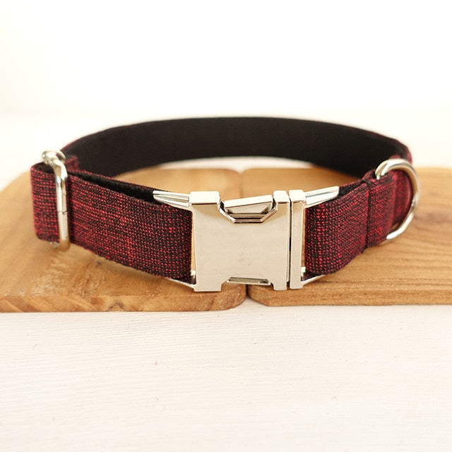 Red Personalized pets collars
