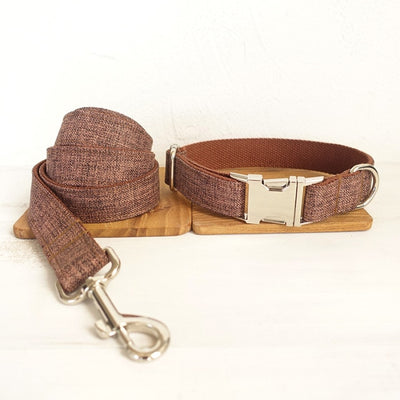 brown pets Collar Personalized