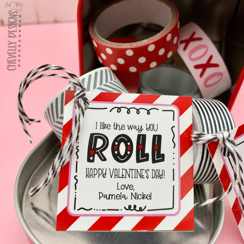 Personalized - I Like the Way You Roll Gift Tags ***Printable Digital File***