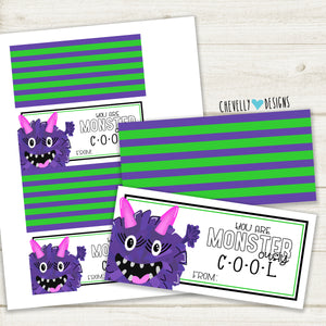 Printable - You are MONSTER -ously Cool - Treat Bag Topper | Instant Digital Download