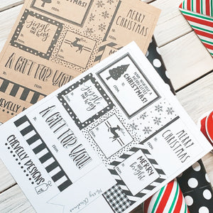 Printable Christmas Gift Tag Collection - Holiday Special! >>>Instant Digital Download<<<