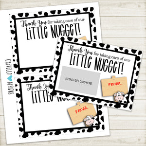 "Printable 5""x7"" Chick-fil-A Gift Card Holder for Teacher Gift 