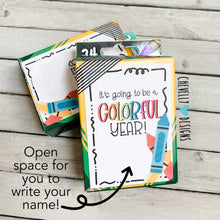 Load image into Gallery viewer, Printable Back to School Gift Tags for Crayons - Colorful Year - Instant Digital Download