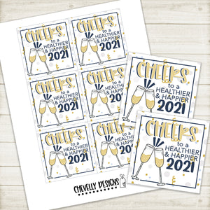 Printable - 2021 New Year Gift Tags ***Instant Digital File***