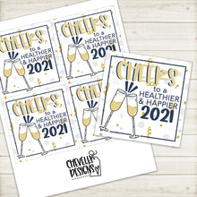 Load image into Gallery viewer, Printable - 2021 New Year Gift Tags ***Instant Digital File***