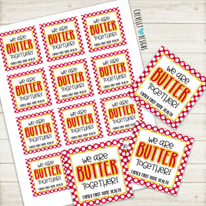 Personalized - Butter Together - Gift Tags for Nutter Butters ***Printable Digital File***