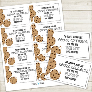 Doctor Appreciation Gift Tags | COOKIE crumbles | Best Doc | Instant Digital Download