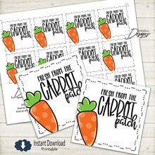 Load image into Gallery viewer, Fresh From the Carrot Patch - Easter Gift Tags | Printable - Instant Digital File