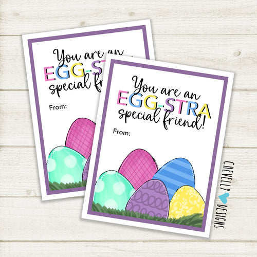 EGGstra Special Friend - Easter Gift Tags | Printable - Instant Digital File