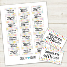 Load image into Gallery viewer, Thanks for being dePENdable! Pen Gift Tags | Printable - Instant Digital File