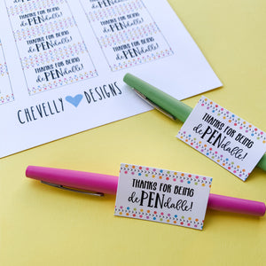 Thanks for being dePENdable! Pen Gift Tags | Printable - Instant Digital File