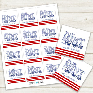 Personalized MINT to Work Together Gift Tags | Printable - Digital File