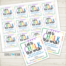 "Load image into Gallery viewer, Personalized ""CHALK THE WALK"" Gift Tags ***Printable Digital File***"