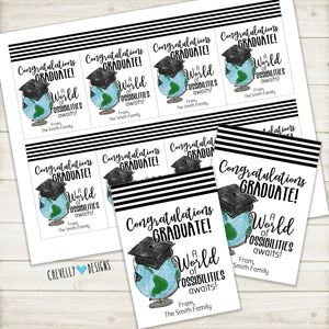 Personalized Congratulations Graduate Gift Tags ***Printable Digital File***
