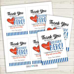 Personalized Frontline Worker Appreciation Gift Tag | Printable Digital File