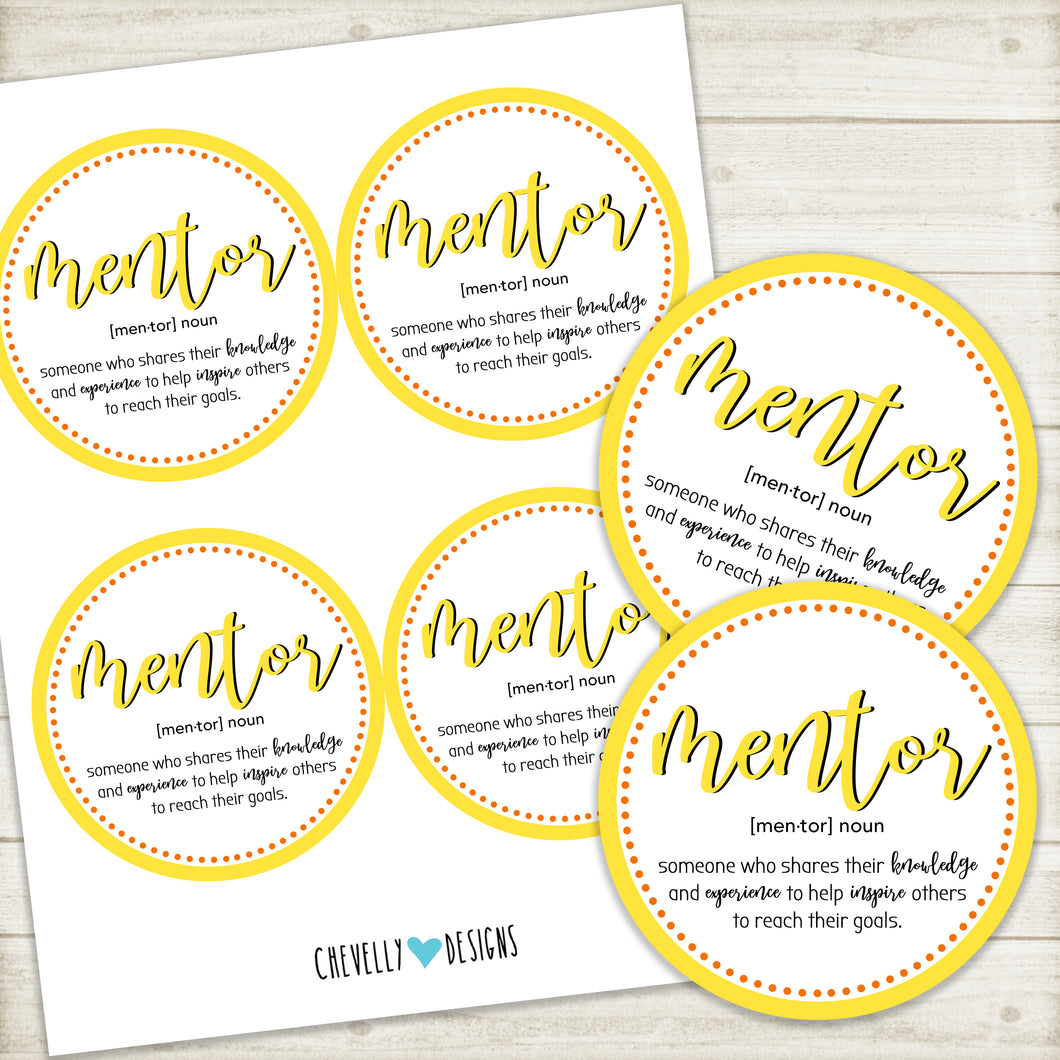 Printable Mentor Gift Tags | Instant Digital Download