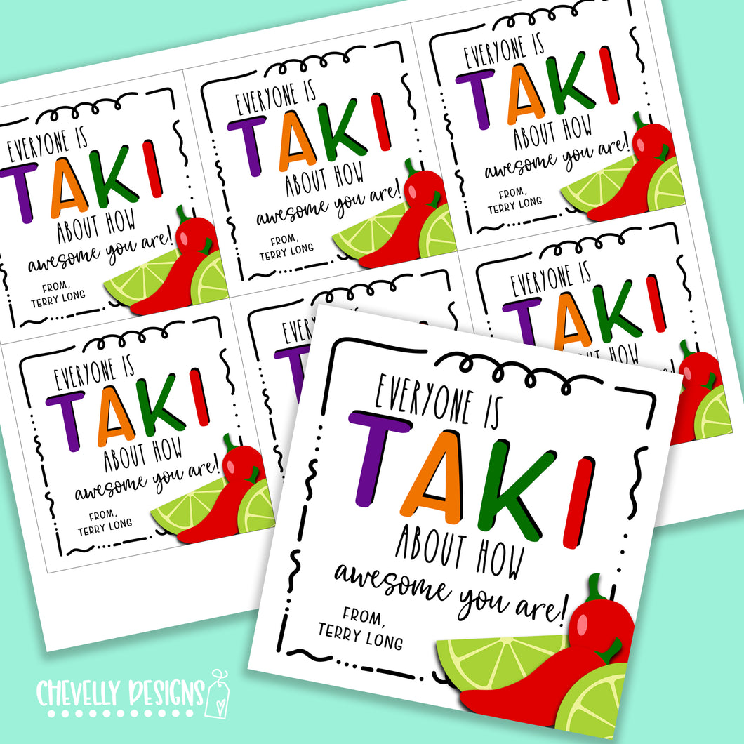 Personalized - Takis Appreciation Gift Tags ***Printable Digital File***