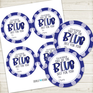 Printable Gift Tags - Something out of the BLUE, just for you! - Instant Digital Download