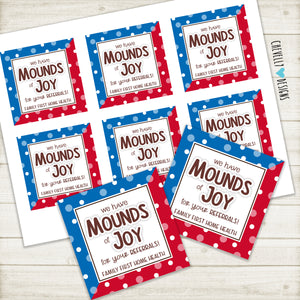 Personalized - Printable MOUNDS and ALMOND JOY Gift Tags for Business Marketing and Promotionals ***Printable Digital File***