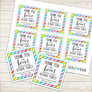 Personalized - Printable - Jelly Bean Business Referral Gift Tags ***Printable Digital File***
