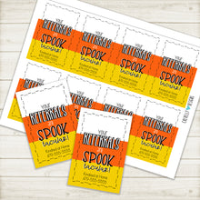 Load image into Gallery viewer, Personalized - Printable Digital File - Spook-tacular Referral Gift Tags ***Printable Digital File***