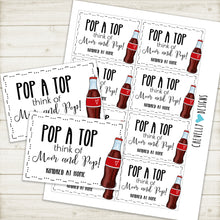 Load image into Gallery viewer, Personalized - Pop a Top not a Hip - Home Health Gift Tags ***Printable Digital File***