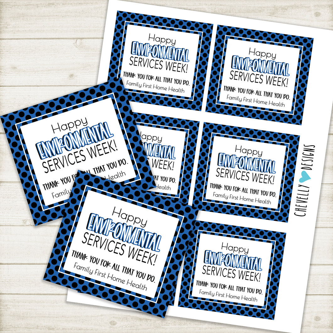Personalized - Environmental Services Week - Printable Gift Tags ***Printable Digital File***