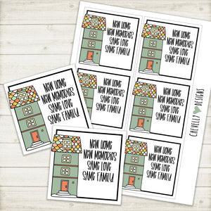 Printable Tags for New Home Buyer Housewarming Gifts >>>Instant Digital Download<<<