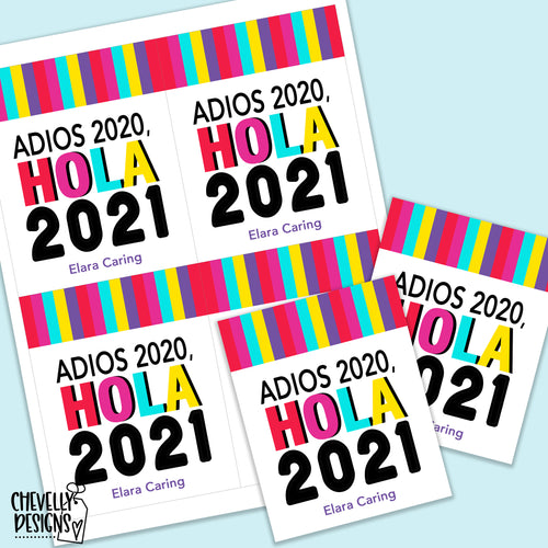 Personalized - Adios 2020 Hola 2021 Gift Tags ***Printable Digital File***