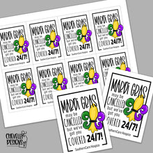 Load image into Gallery viewer, Personalized - Mardi Gras Cancelled Gift Tags ***Printable Digital File***