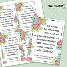 Load image into Gallery viewer, Personalized - Loss of a Loved One - Sympathy Gift Tags ***Printable Digital File***