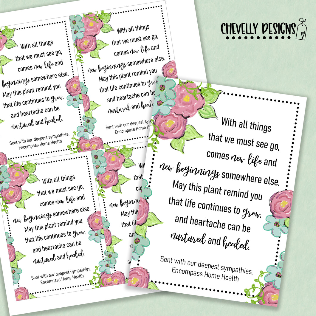 Personalized - Loss of a Loved One - Sympathy Gift Tags ***Printable Digital File***